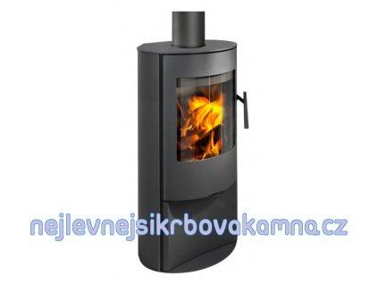 ROMOTOP ALPERA E03 - bok plech víko plech černá  + dárek 40kg dřevěných briket ZDARMA!!!