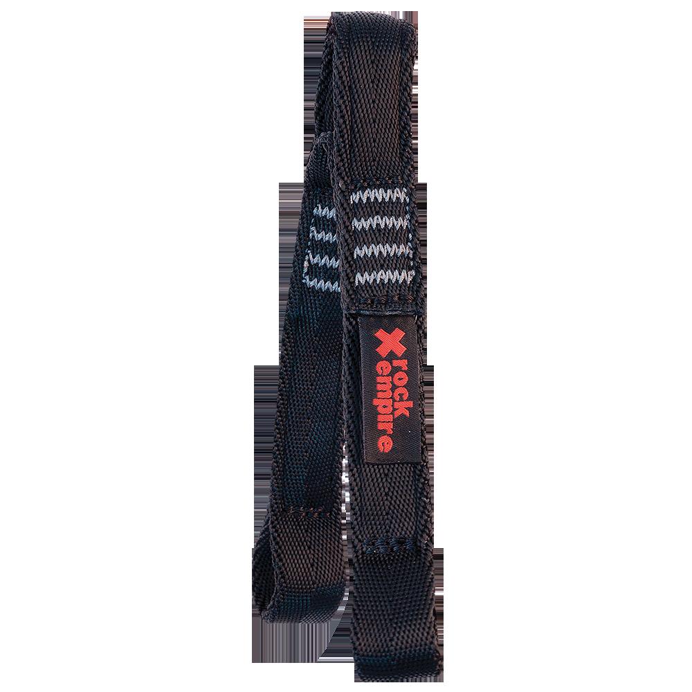 Lanyard Y PA 25mm Ferrata - 15cm Barva: černá, Velikost: 15cm+15cm