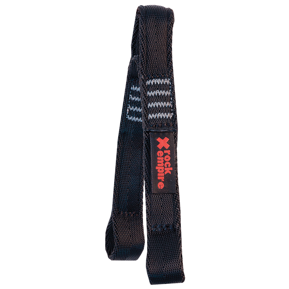 Lanyard Y PA 25mm Ferrata - 20cm Barva: černá, Velikost: 20cm+20cm
