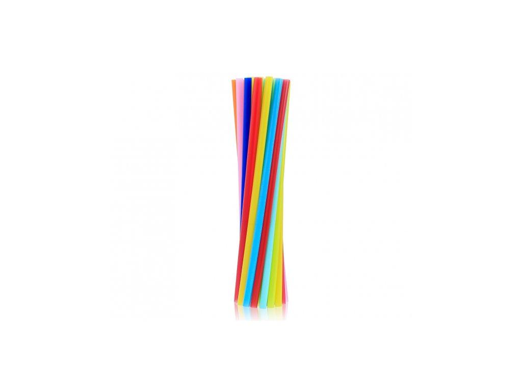 Plastové slámky (brčka) - Mix barev 20 ks