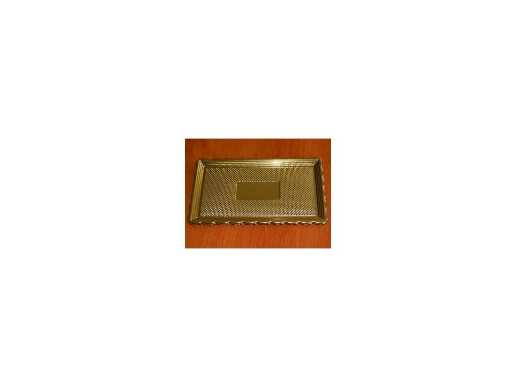 alcas umelohmotny tac pod dort zlaty 375x28cm