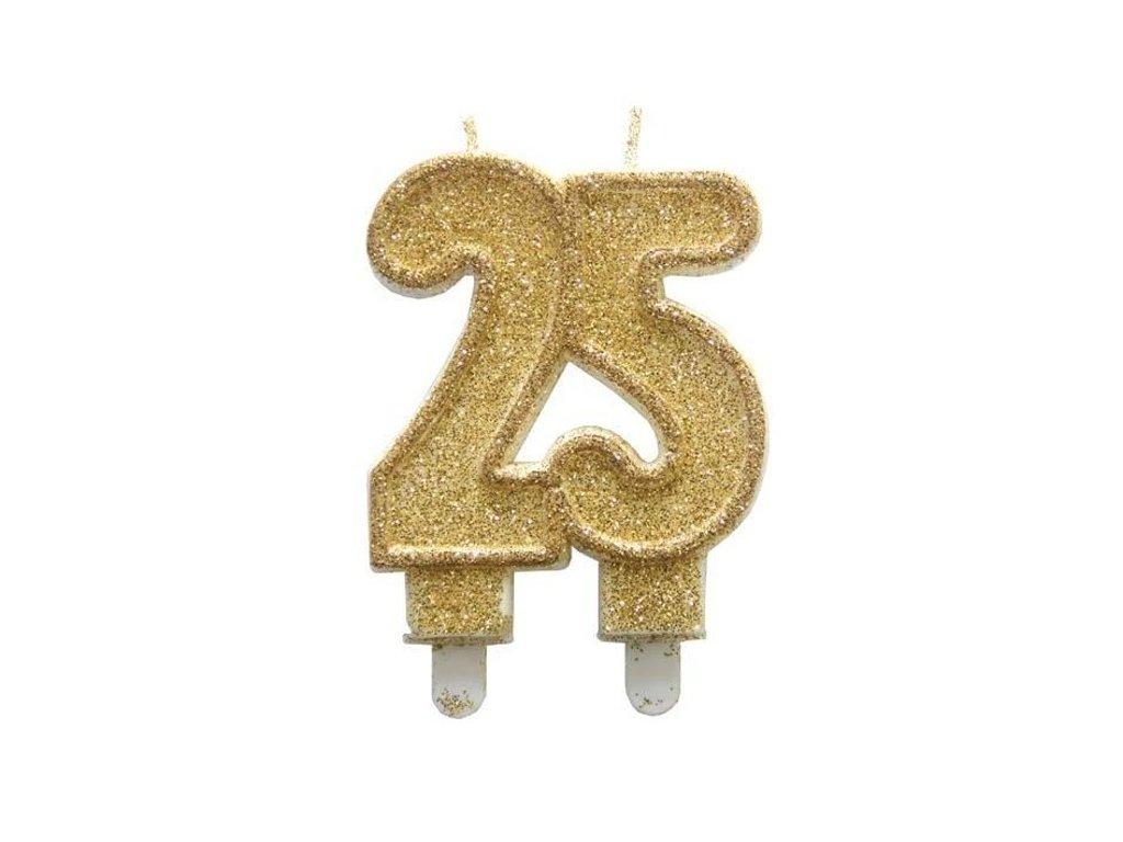 narozeninova dortova svicka jubilejni zlata 25