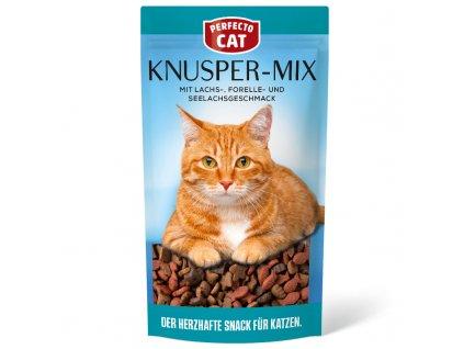 Perfecto Cat Knusper Mix mit Lachs Forelle und Seelachsgeschmack 60g