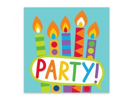 papírové ubrousky barevná párty