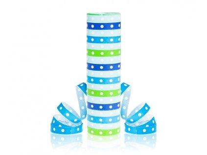 serpenrýny modrozelené s puntíky
