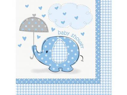 ubrousky modry slon