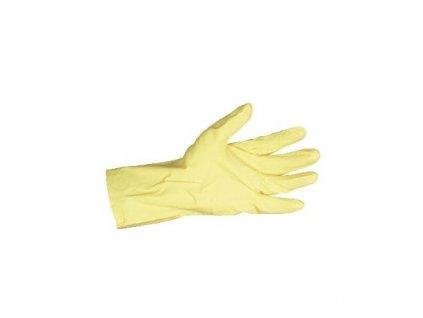 rukavice gumove zlute ansell s