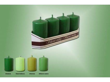 valce 40x70mm 4ks bal zelene odstin 0755