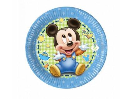 """Papírové talíře """"Mickey Baby"""" - 8 ks/20 cm"""