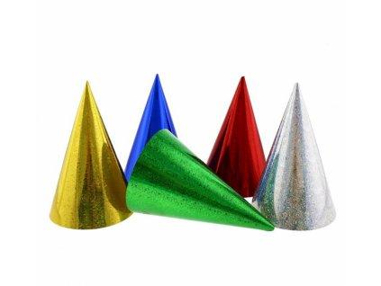 Holografické party čepičky - Mix barev 3 ks