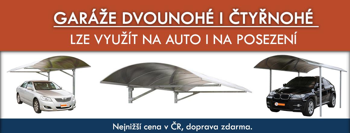Garáže dvounohé i čtyřnohé, Lze využít na auto i na posezení, Nejnižší cena v ČR, doprava zdarma