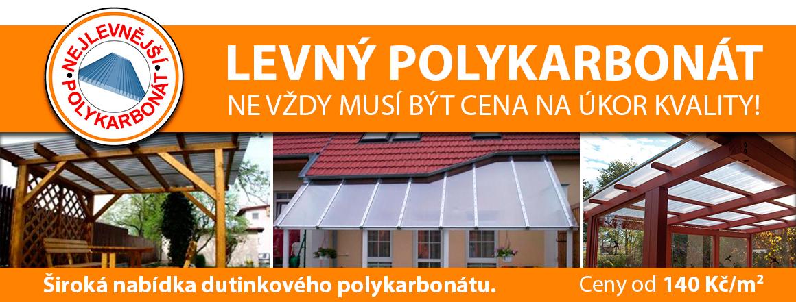 Ceny od 140 Kč/m2. Široká nabídka dutinkového polykarbonátu. LEVNÝ POLYKARBONÁT – NE VŽDY MUSÍ BÝT CENA NA ÚKOR KVALITY!