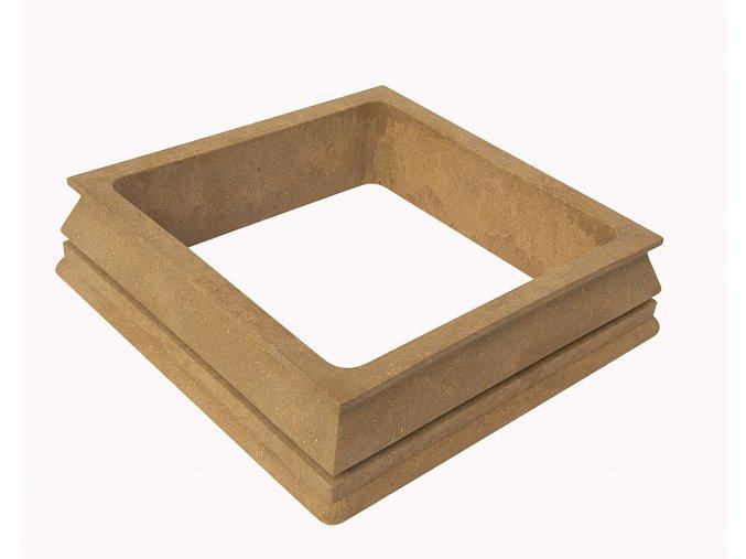 WPC dolní kryt na svislé sloupky Nextwood, odstíny olše - třešeň - dub - wenge • 163x163x40 mm Odstín: