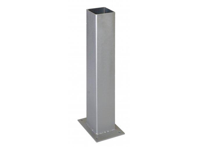Ocelová kotvící patka pro svislé WPC sloupky • 105x105x500 mm • 3400 g
