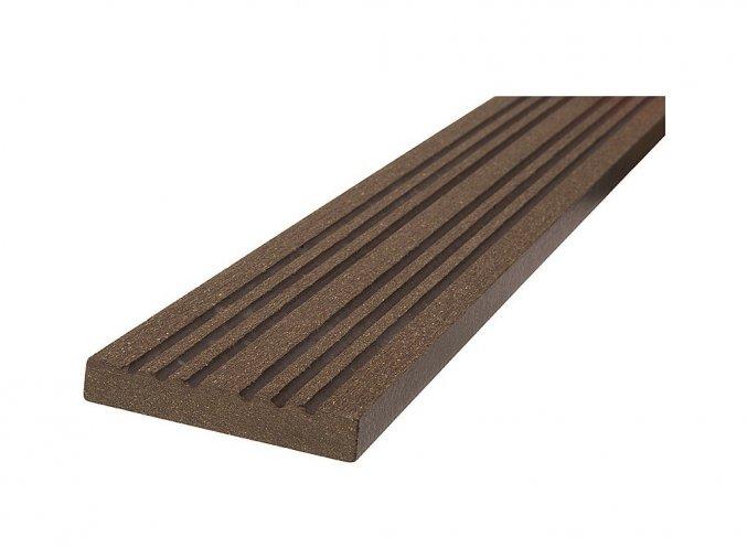 WPC podlahová / terasová lemovací lišta Nextwood, barva wenge • 70x12x2000 mm • 2050 g • dřevoplast