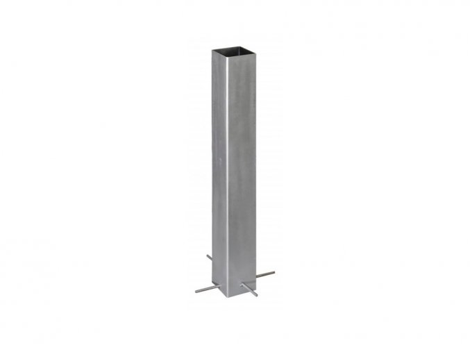Ocelová kotvící patka do betonu pro svislé WPC sloupky • 105x105x800 mm • 5400 g • nerez ocel