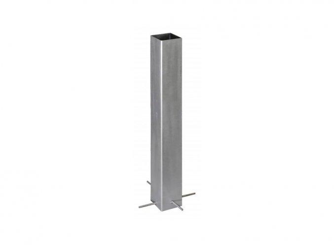Ocelová kotvící patka do betonu pro svislé WPC sloupky • 105x105x800 mm • 5400 g