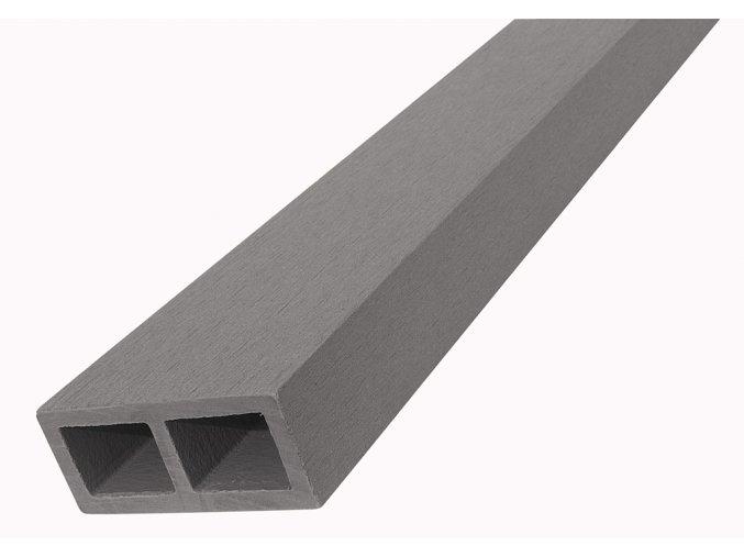 WPC vodorovný plotový nosník Nextwood - šedá