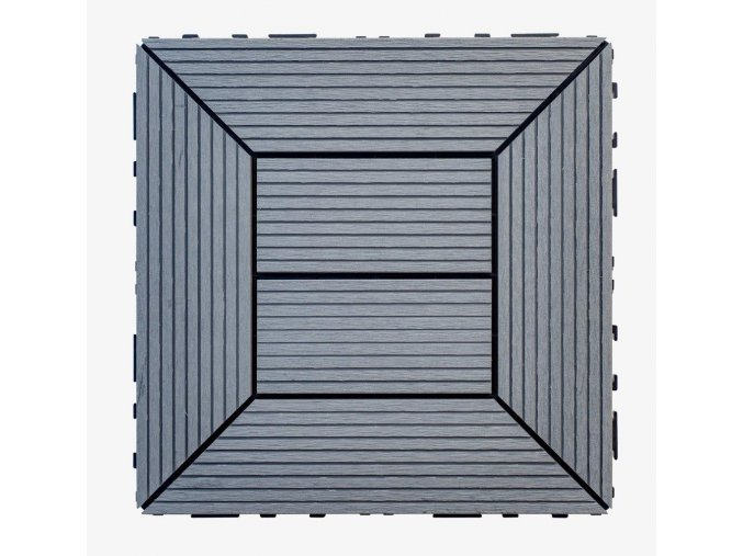 Nextwood WPC dlaždice 300x300 mm, barva šedá