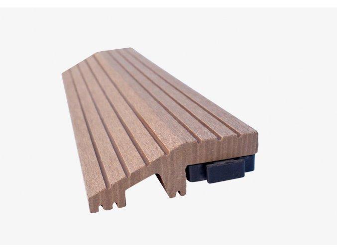 Nextwood WPC ukončovací lišta dlaždic, rovná, barva timber