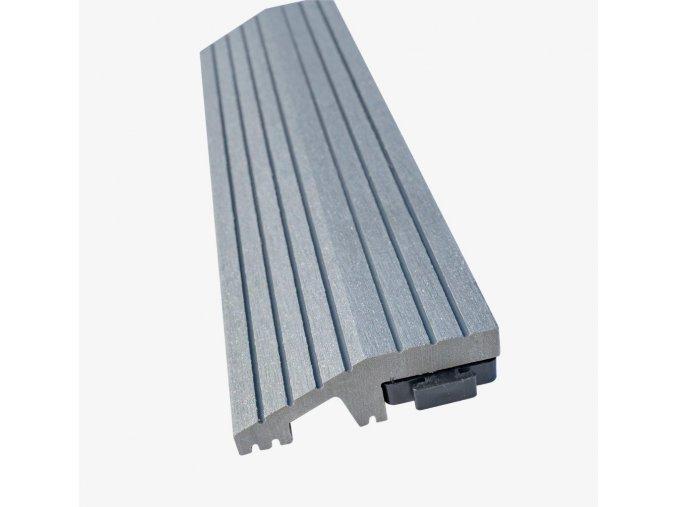 Nextwood WPC ukončovací lišta dlaždic, rovná, barva šedá