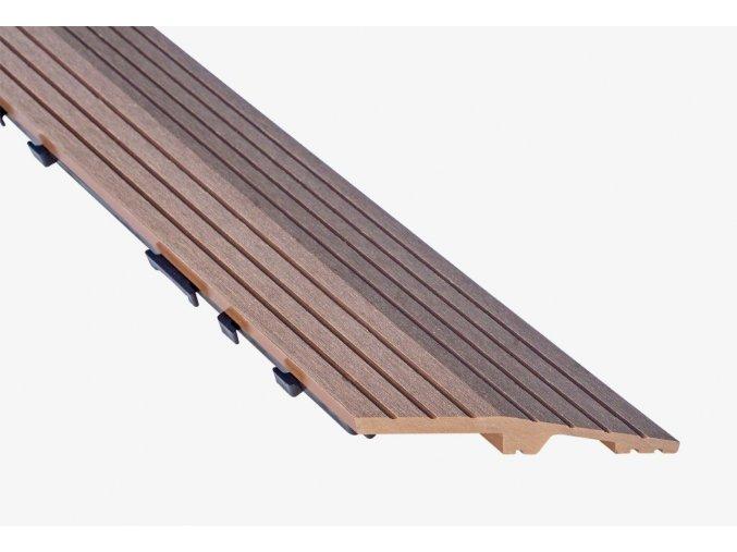 Nextwood WPC ukončovací lišta dlaždic, levá rohová, barva timber
