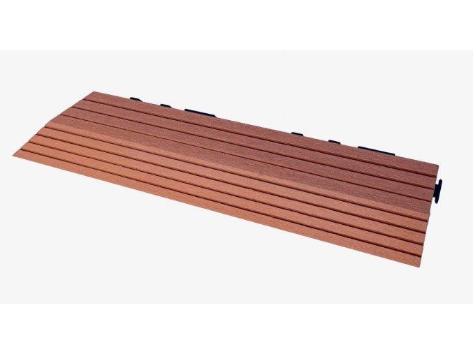 Nextwood WPC ukončovací lišta dlaždic, levá rohová, barva třešeň