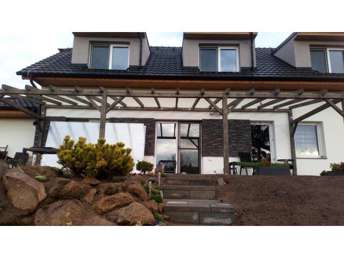 Dřevěná pergola / garážové stání - STANDARD BEZ MONTÁŽE