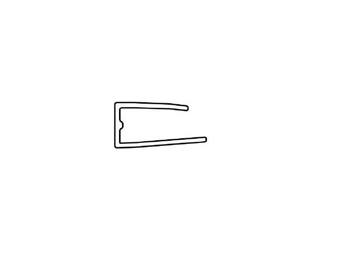 Ukončovací lišta, pro polykarbonát 8 mm