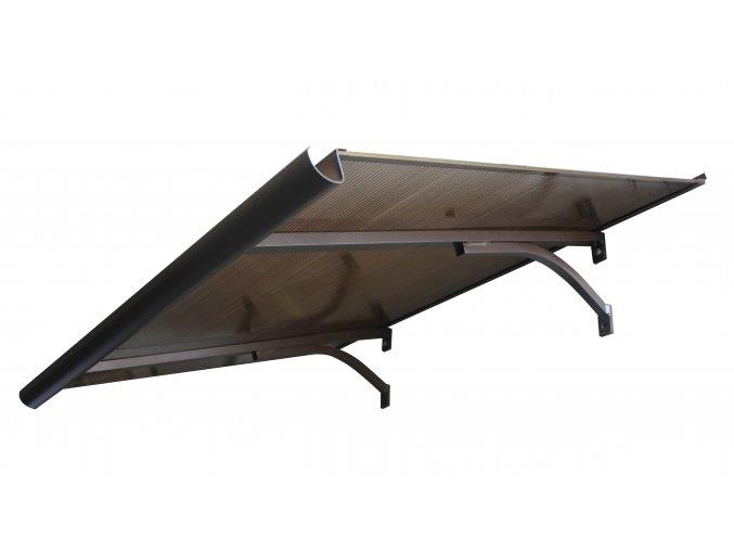 Vchodová stříška Magoya , 90 x 160 cm , bronzový dutinkový PC  Doprava zdarma