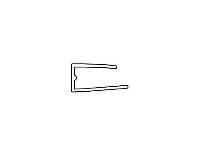 Ukončovací lišta, pro polykarbonát 10 mm - BRONZ