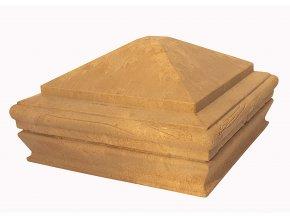 WPC vrchní kryt na svislé sloupky Nextwood, odstíny olše - třešeň - dub - wenge • 163x163x87 mm Odstín: