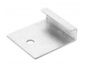 Nerezový startovací / zakončovací klip • 42x40x13 mm • 26 g • nerez ocel