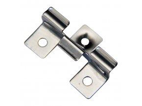 Nerezový spojovací klip • 50x30x14 mm • 10 g • nerez ocel