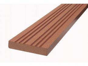 WPC podlahová / terasová lemovací lišta Nextwood, barva třešeň • 70x12x2000 mm • 2050 g • dřevoplast