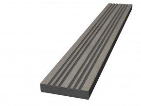 WPC terasová lemovací lišta Nextwood 3D line, šedá