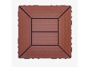 Nextwood WPC dlaždice 300x300 mm, barva třešeň