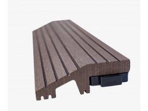 Nextwood WPC ukončovací lišta dlaždic, rovná, barva wenge