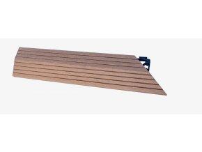 Nextwood WPC ukončovací lišta dlaždic, pravá rohová, barva timber