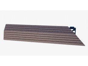 Nextwood WPC ukončovací lišta dlaždic, pravá rohová, barva wenge