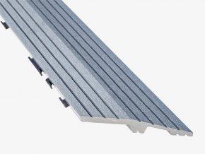 Nextwood WPC ukončovací lišta dlaždic, levá rohová, barva šedá