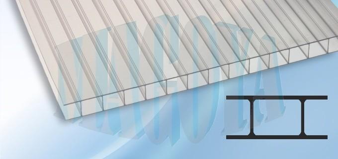 Komůrkový polykarbonát, čirý, 4 mm Rozměry: celá deska 2,1 x 6 m