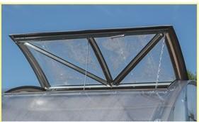 Okno, polykarbonátový skleník TRJOŠKA