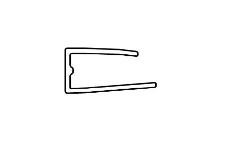 Ukončovací U lišta pro polykarbonát 10mm Délka lišty: 2,1 m