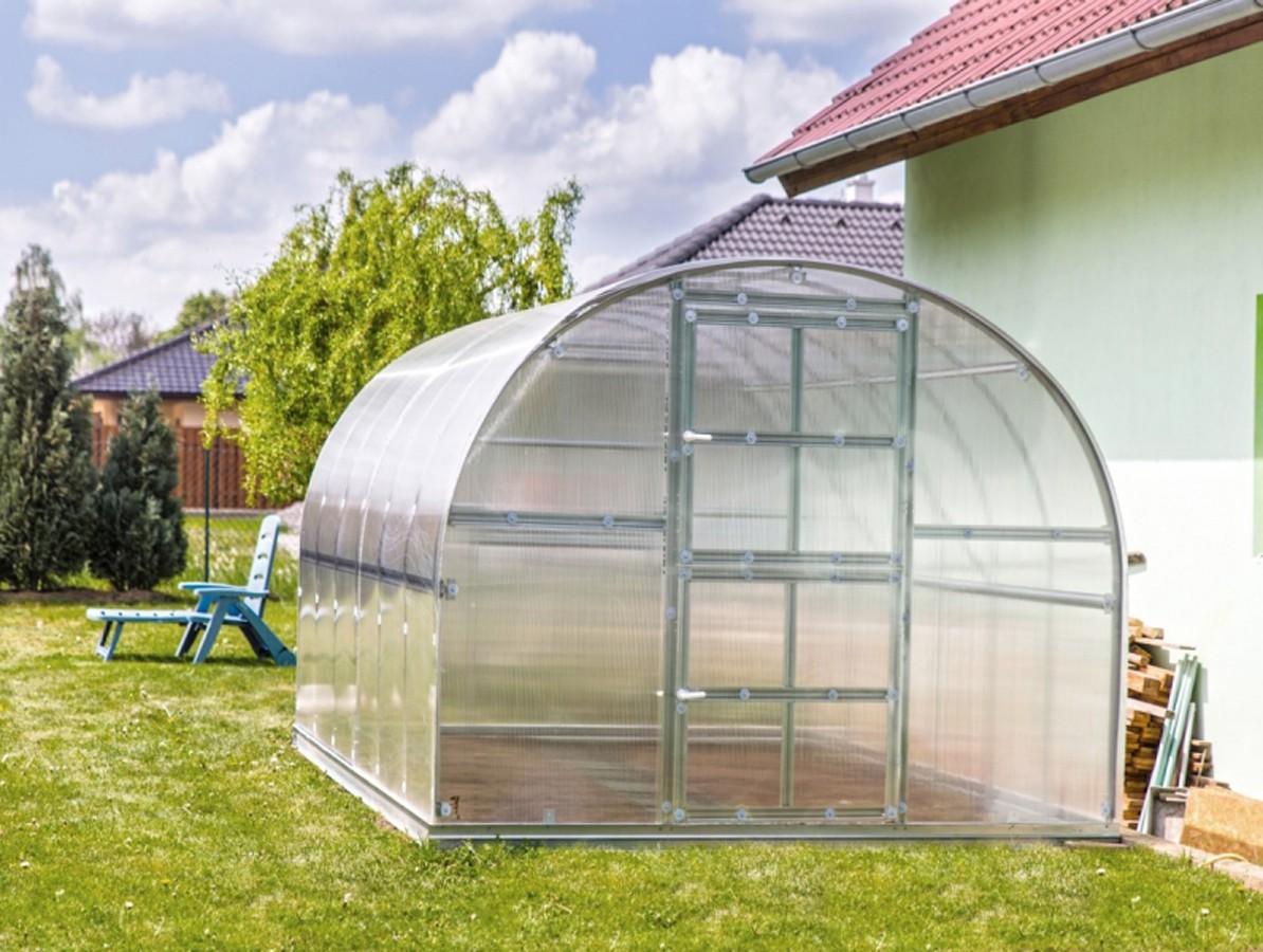 Polykarbonátový skleník Gardentec Classic PROFI - 6mm polykarbonát Dárek zdarma + doprava zdarma Délka skleníku: 4 m