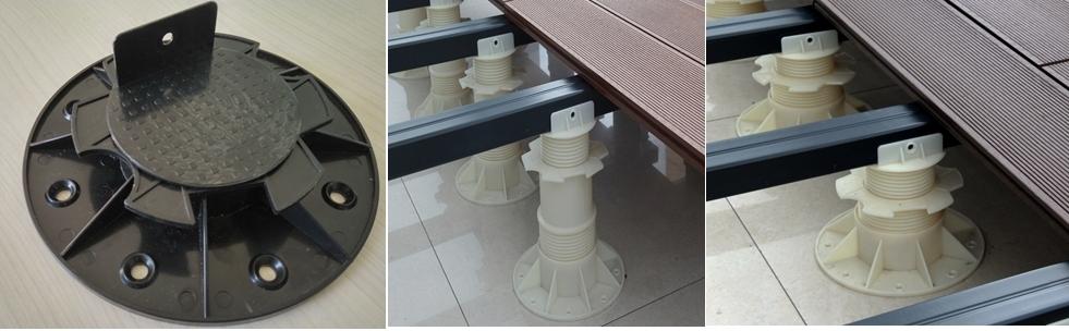 Rektifikační terče pro terasy WPC Nejlevněji v ČR výška nastavení: 30 - 60 mm