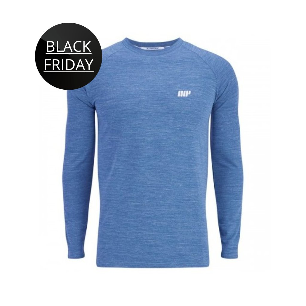 MyProtein panske triko Performance dlouhy rukav modre