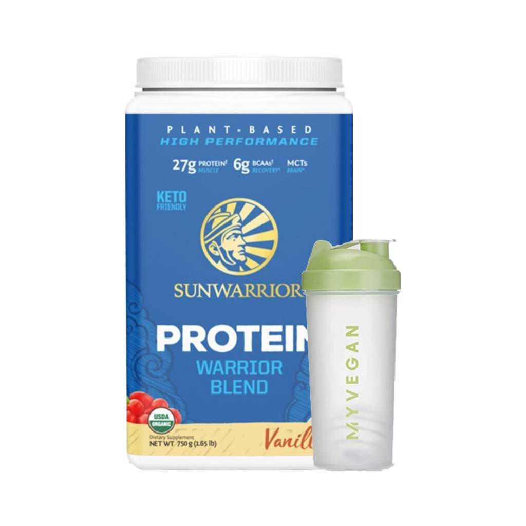 sunwarrior protein blend bio 750 g hrachovy konopny protein a goji