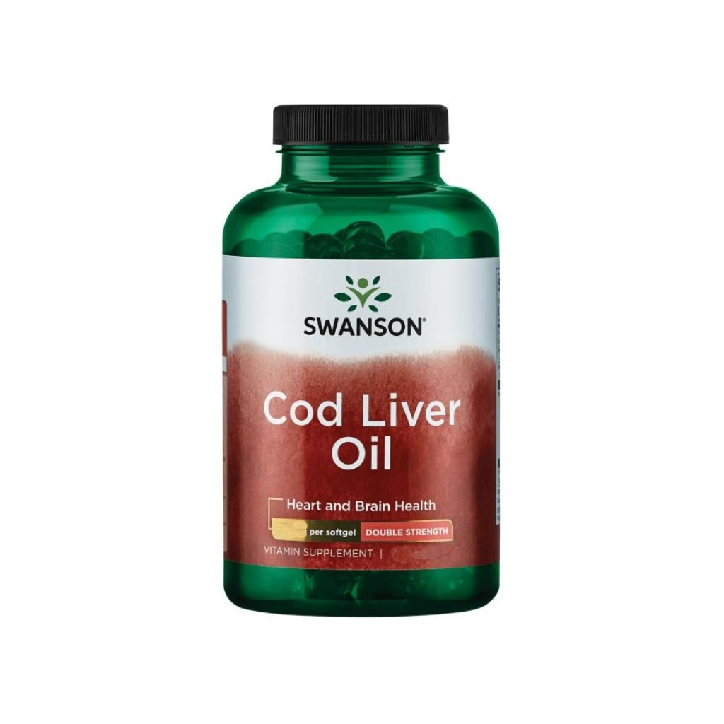 swanson cod liver oil 350 mg 180 kapsli