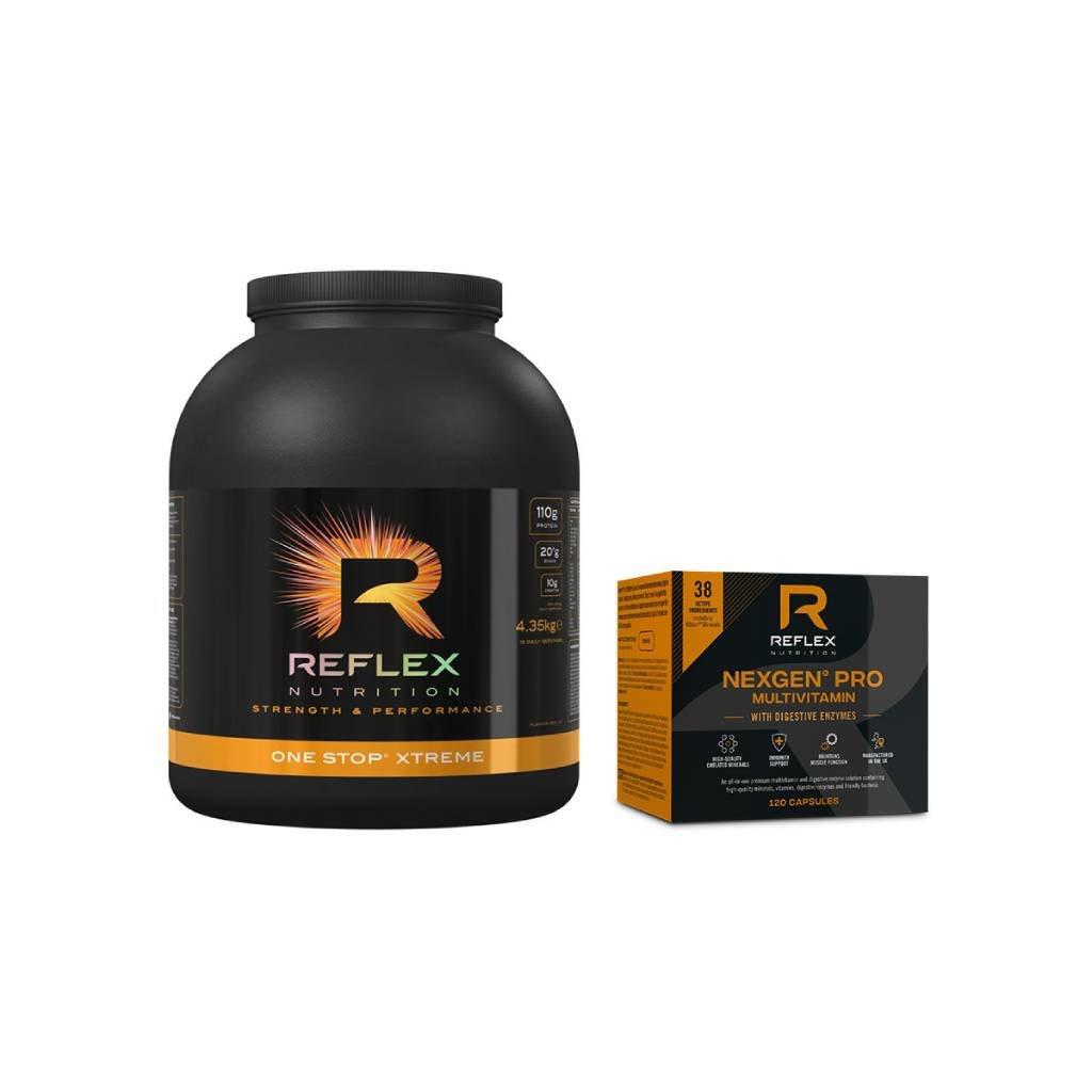 Reflex Nutrition One Stop Xtreme 4350 g + Nexgen Pro Digestive Enzymes 120 kapslí  dárek k produktu + Nexgen Pro Digestive Enzymes 120 kapslí